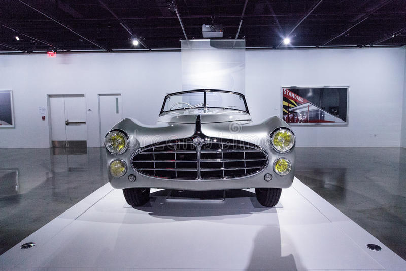 Tipo 1951 de Delahaye da prata 235 convertible do Cabriolet foto de stock royalty free
