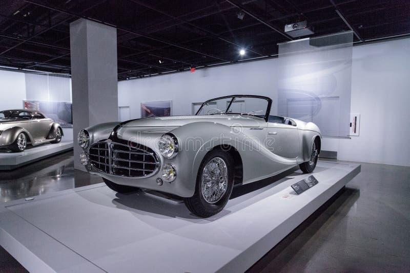 Tipo 1951 de Delahaye da prata 235 convertible do Cabriolet fotos de stock royalty free