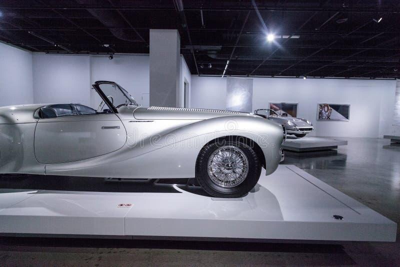 Tipo 1951 de Delahaye da prata 235 convertible do Cabriolet fotografia de stock royalty free