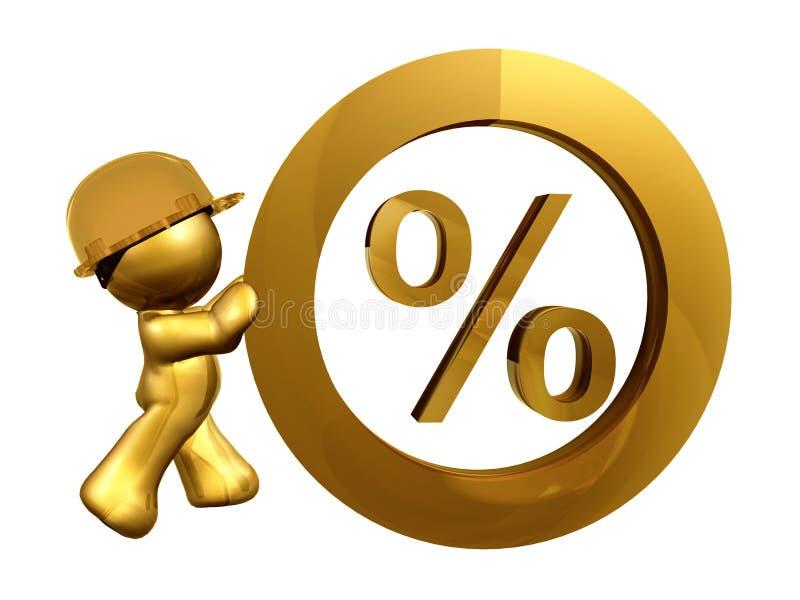 Tipo de interés cero del por ciento stock de ilustración