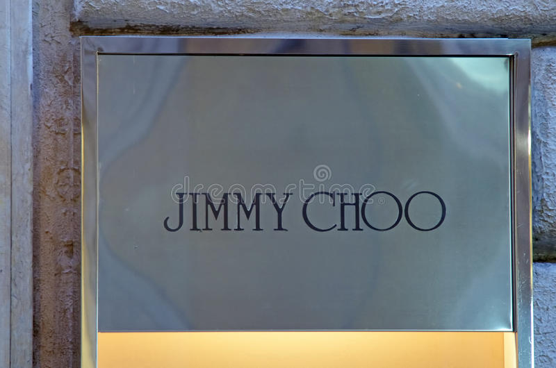 Tipo de Jimmy Choo imagem de stock royalty free