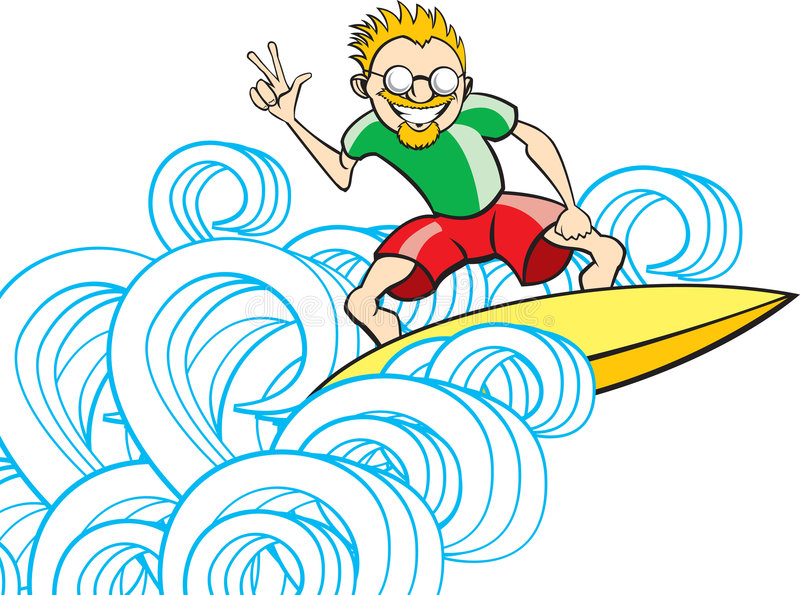Tipo de la persona que practica surf libre illustration
