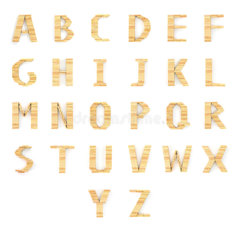 Tipo de madera bloques de los dominós del alfabeto en blanco imagen de archivo