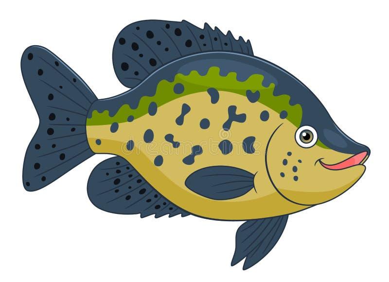 Tipo de peixe preto dos desenhos animados ilustração royalty free