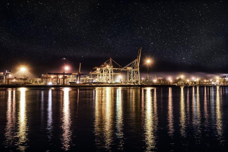 Tipo de puerto de la noche imagen de archivo