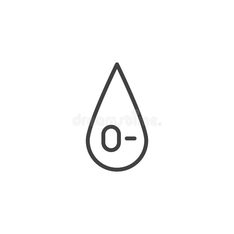 0- tipo de sangre icono del vector ilustración del vector