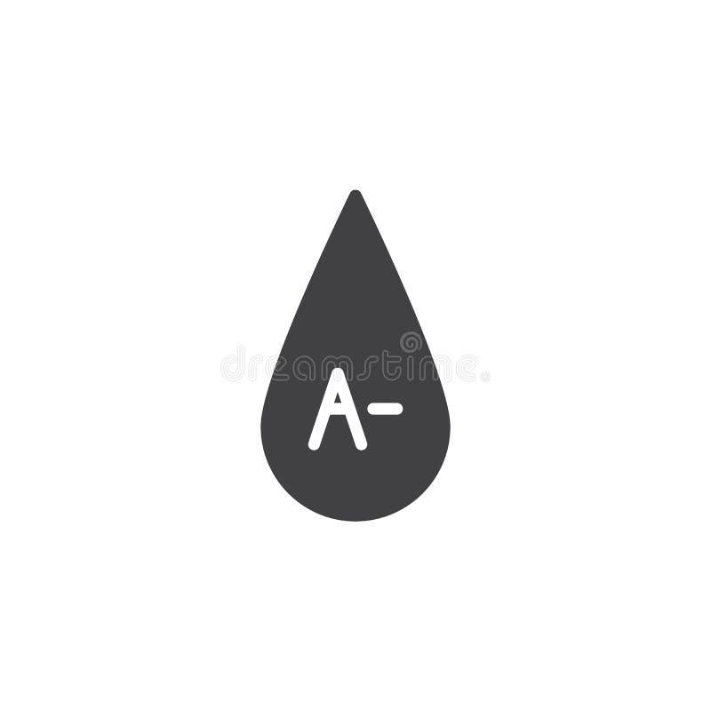 A- tipo de sangre icono del vector libre illustration