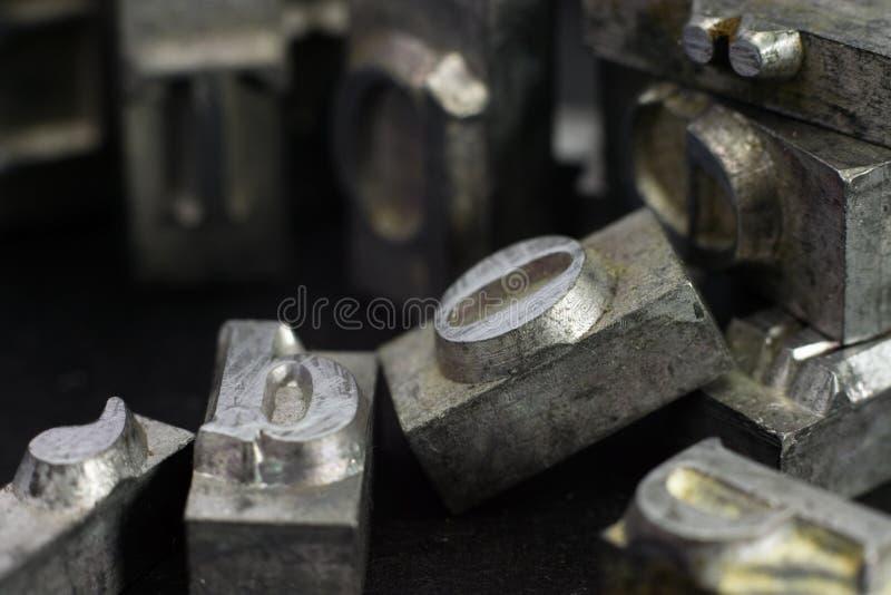 Tipo del metal fotos de archivo libres de regalías