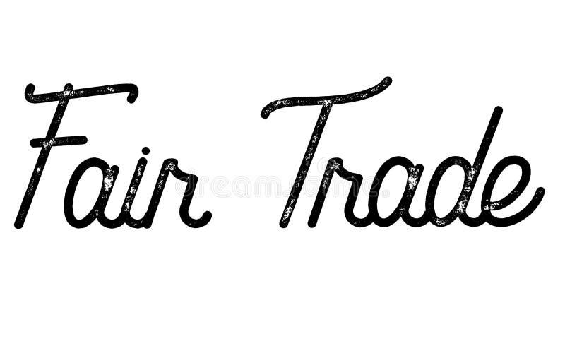 Tipo del sello del comercio justo ilustración del vector