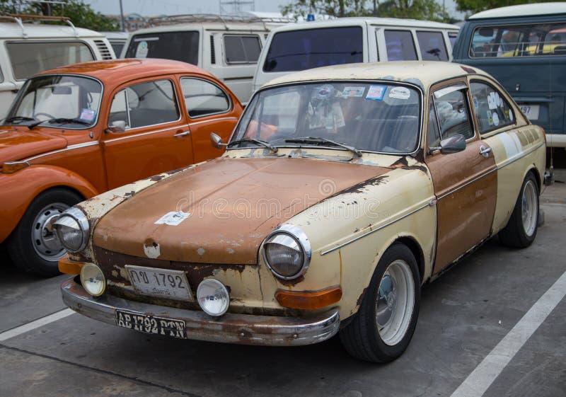 Tipo 3 demostración de Volkswagen del Fastback en la reunión del club fotografía de archivo
