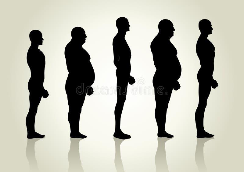 Tipo di corpo maschio illustrazione vettoriale