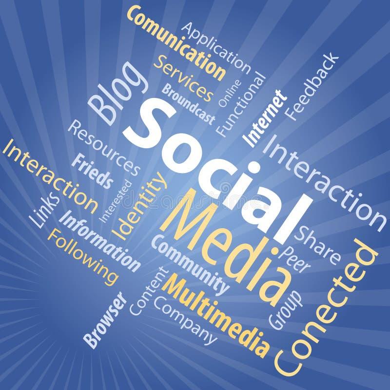 Tipo di media sociale illustrazione di stock