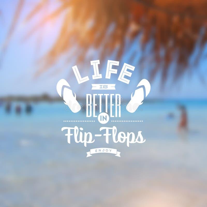 Tipo diseño de las vacaciones de la playa libre illustration