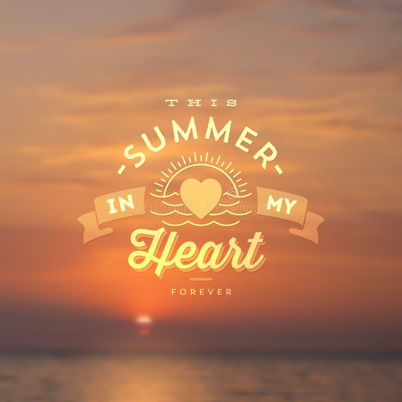 Tipo diseño de las vacaciones de verano libre illustration