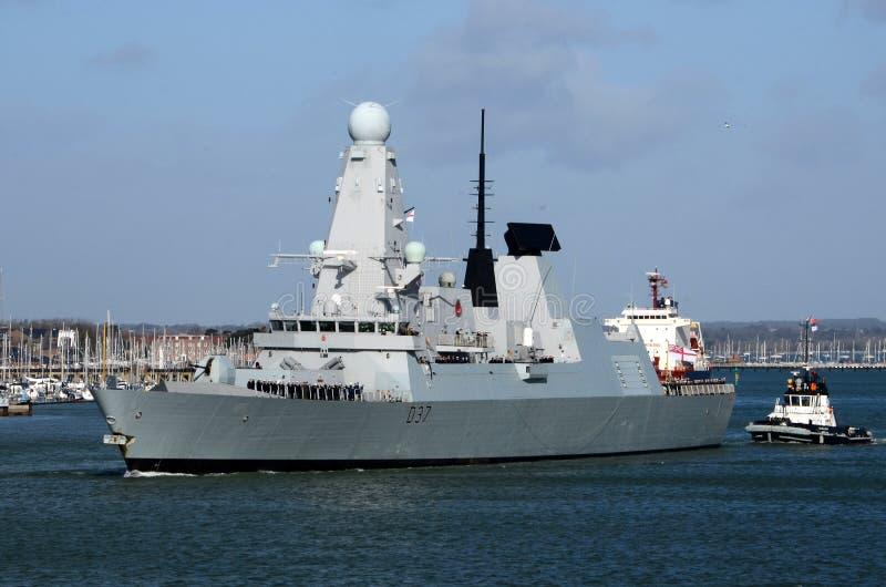 Tipo 45 distruttore il solent, Portsmouth immagini stock