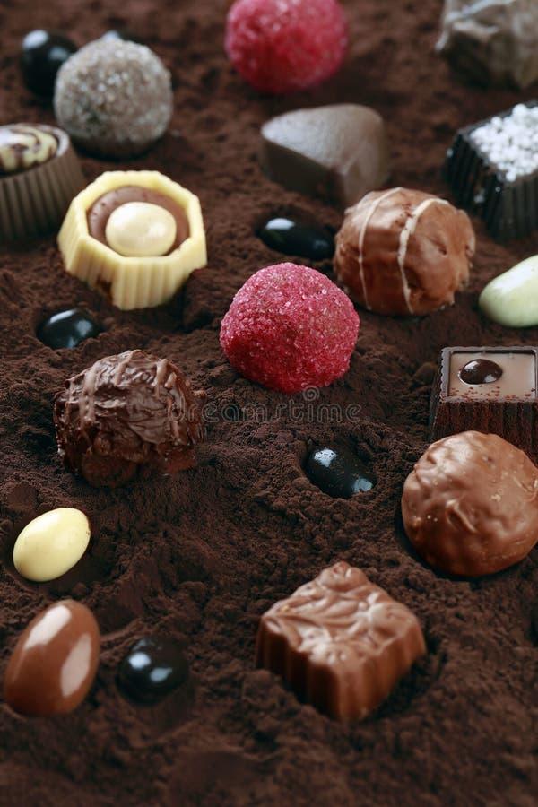 Tipo do chocolate no cacau imagem de stock