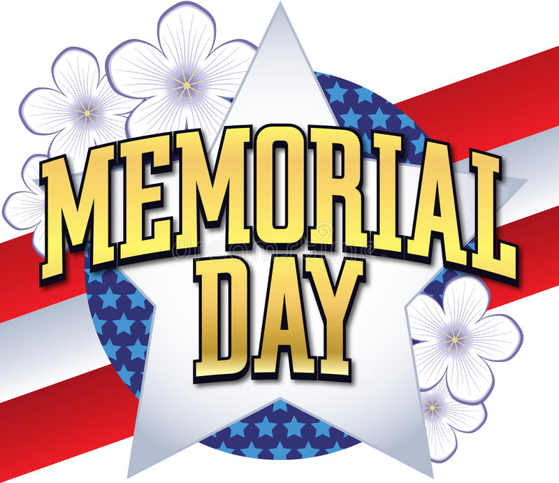 Tipo do logotipo do Memorial Day ilustração royalty free