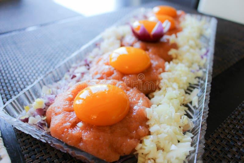 Tipo do polonês do prato do sushi imagem de stock