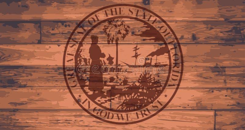 Tipo do selo do estado de Florida ilustração royalty free