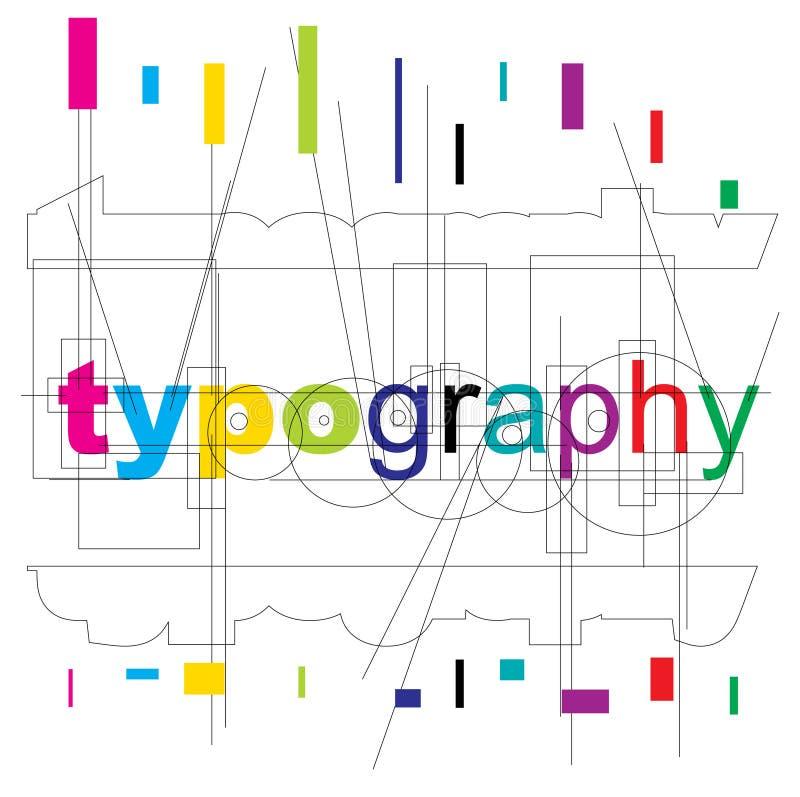 Tipo do typography do vetor ilustração stock