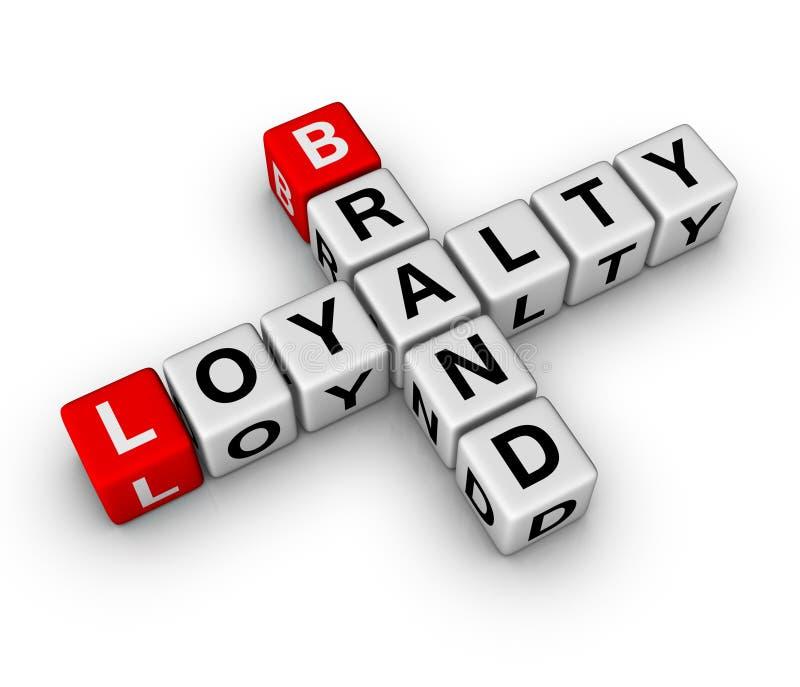 Tipo e lealdade ilustração stock