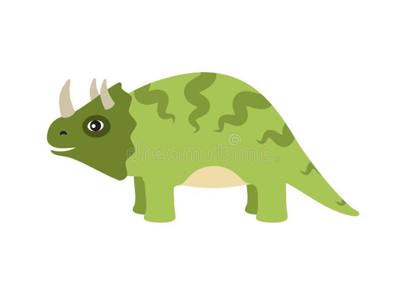 Tipo ejemplo del dinosaurio del Triceratops del vector libre illustration