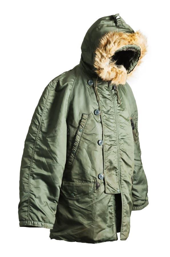Tipo el an o 80 de la fuerza aérea del hombre del aviador del vintage par de la chaqueta de BOMBARDERO de N-2B N2B imagen de archivo