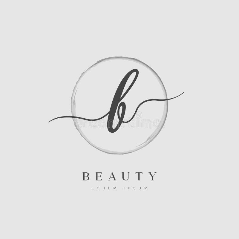 Tipo elegante logotipo da letra inicial de B ilustração stock