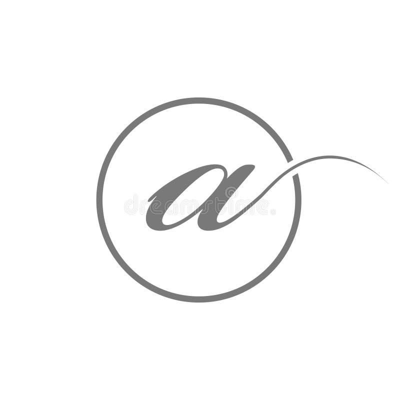Tipo elegante simple de la letra inicial del ejemplo del vector un logotipo de la belleza con el icono del símbolo de la muestra  ilustración del vector