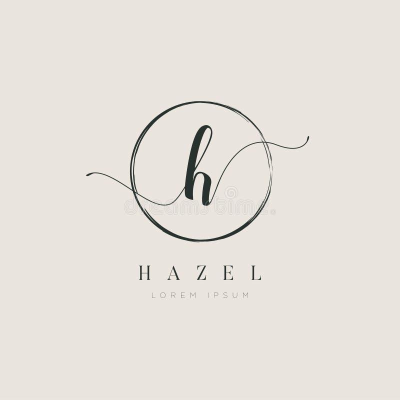 Tipo elegante simples H Logo Sign Symbol Icon da letra inicial ilustração do vetor