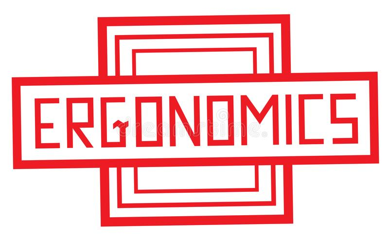 Tipo ergonómico del sello libre illustration