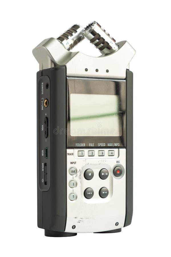Tipo estereofônico de alta qualidade registrador sadio de Digitas no fundo branco isolado imagens de stock