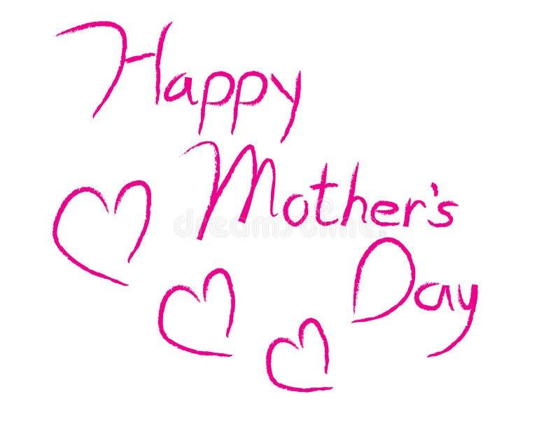 Tipo feliz del día de madre libre illustration