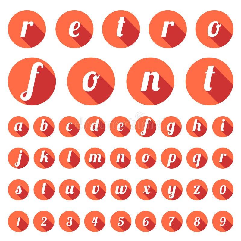 Tipo fuente retro, tipografía del vintage stock de ilustración