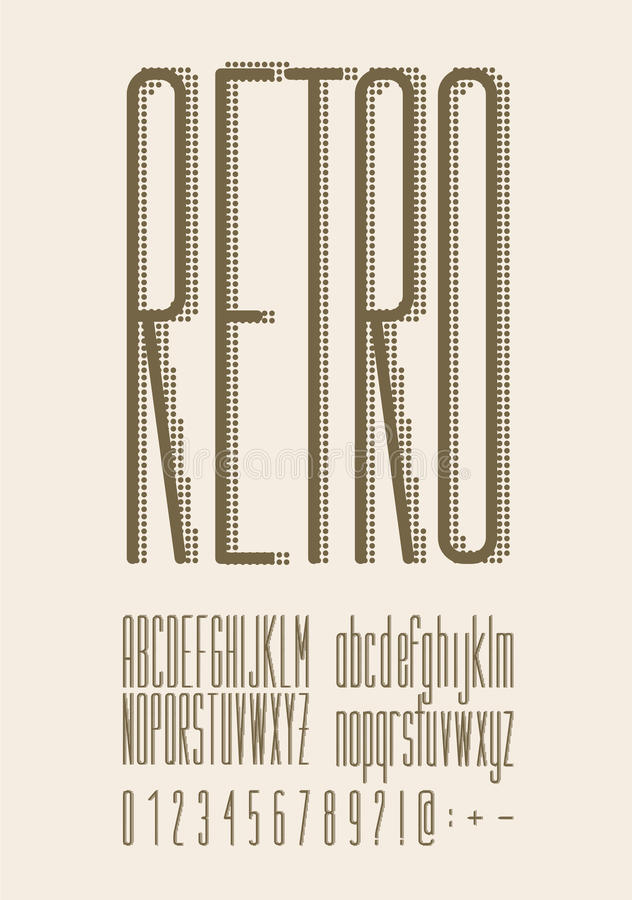 Tipo fuente retro, tipografía del vintage libre illustration