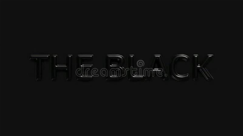 Tipo grabado en relieve y enarenado del metal en negro libre illustration