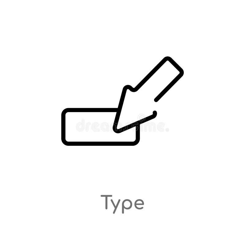 tipo icono del esquema del vector l?nea simple negra aislada ejemplo del elemento del concepto de la orientaci?n tipo editable de libre illustration