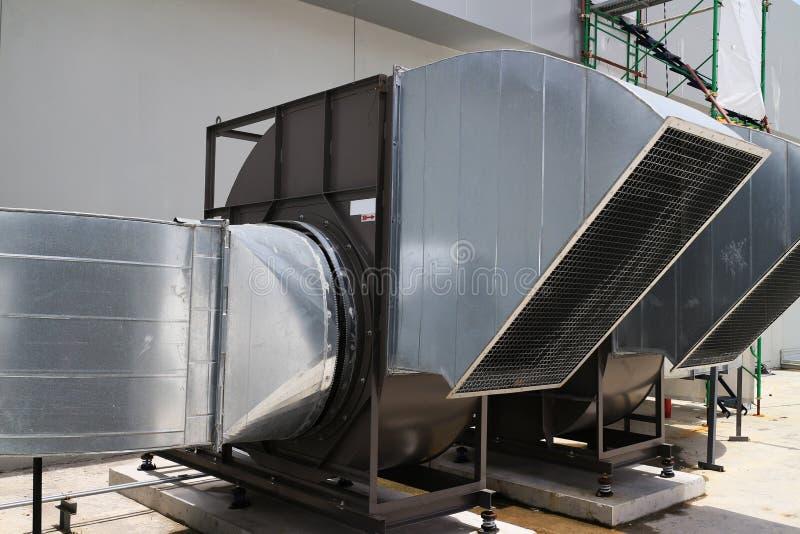 Tipo industrial centrífugo del ventilador foto de archivo