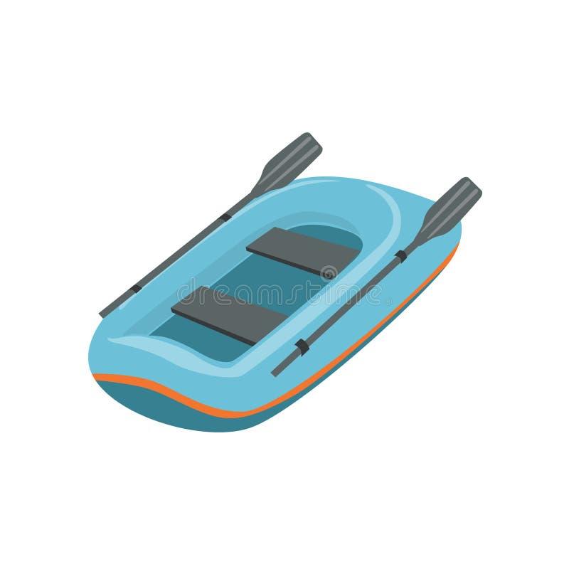 Tipo inflable azul del bote de icono del barco libre illustration