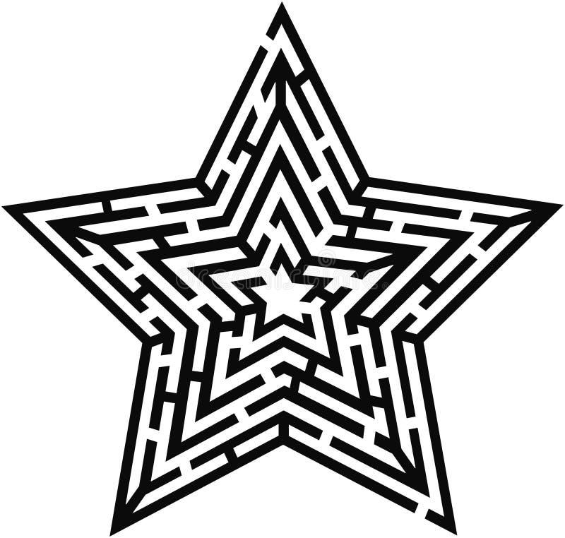 Tipo laberinto de la estrella ilustración del vector