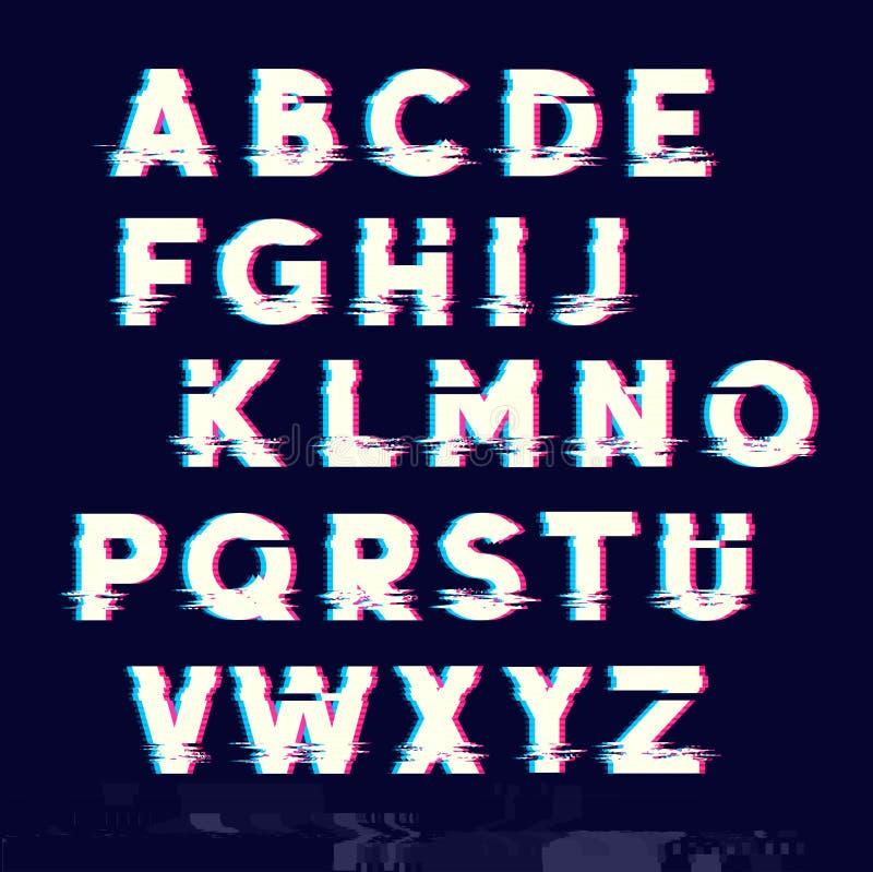 Tipo letras do deslocamento do pulso aleatório ilustração royalty free
