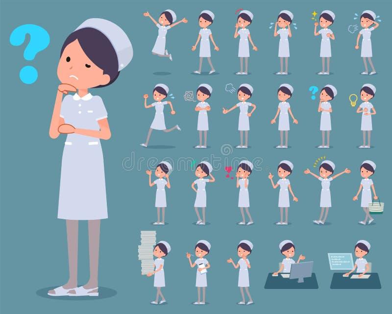 Tipo liso desgaste woman_1 da enfermeira ilustração royalty free