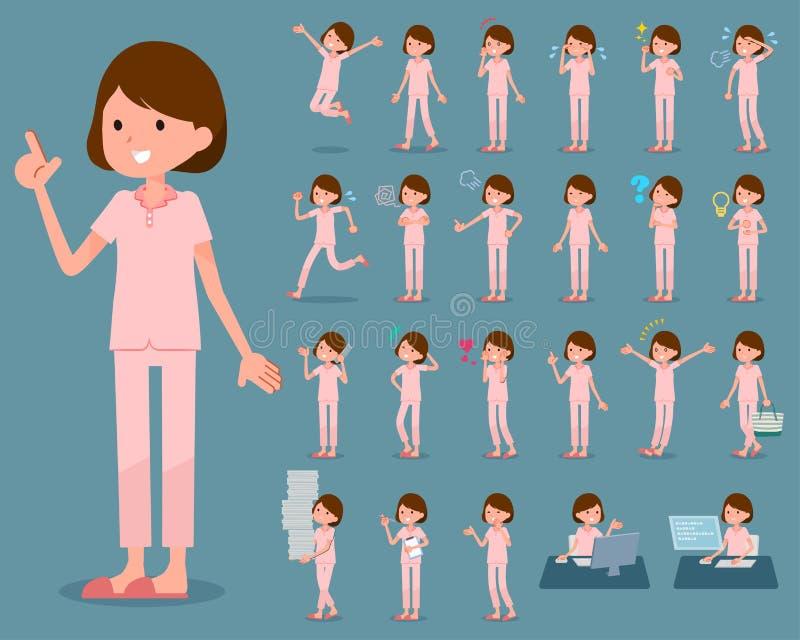 Tipo liso paciente woman_1 ilustração do vetor