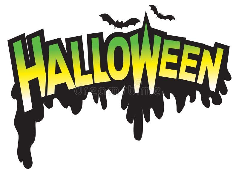 Tipo logotipo de Halloween do gráfico ilustração do vetor