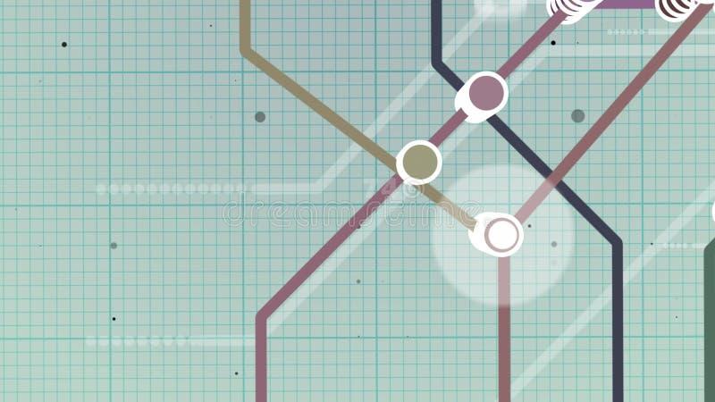 Tipo mapa da escola do metro ilustração royalty free