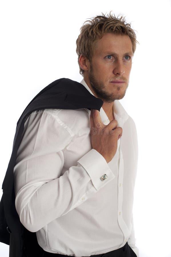 Tipo masculino de vista ocasional camisa desgastando do negócio fotos de stock royalty free