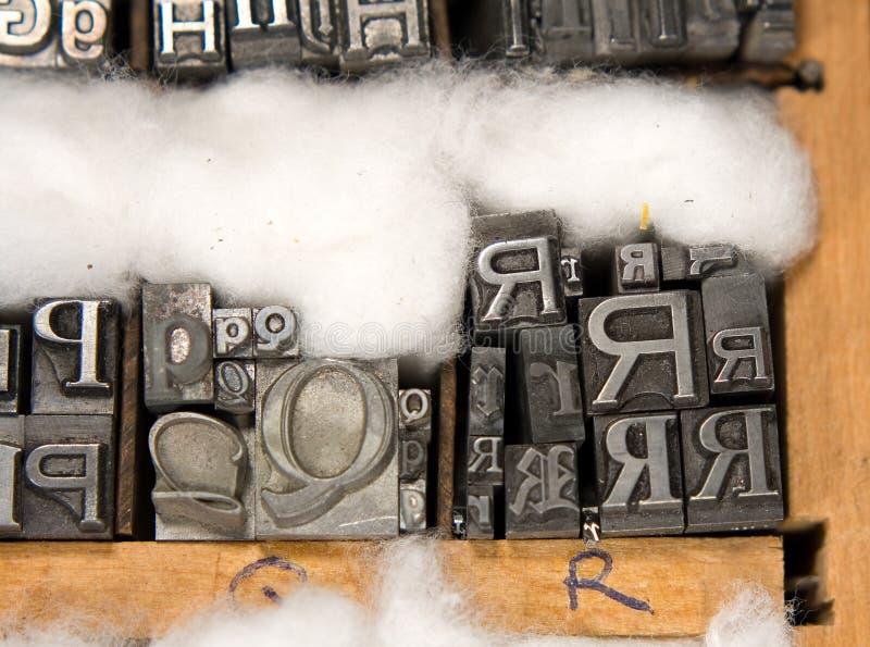 Tipo mezclado bloques de la prensa de copiar fotografía de archivo libre de regalías