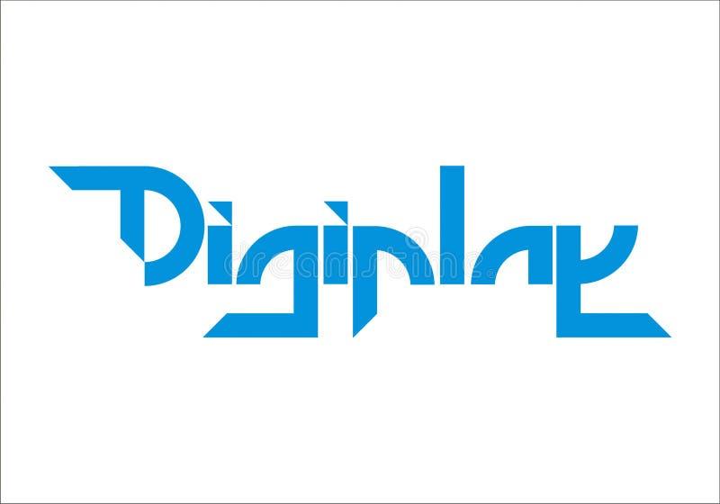 Tipo moderno azul do logotipo de Digiplay imagens de stock