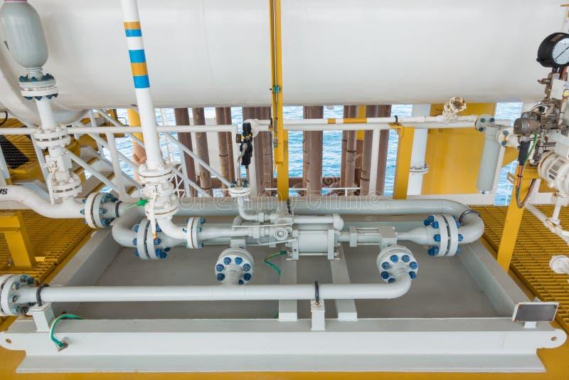 Tipo positivo líquido do deslocamento da bomba de atuador para transferir o líquido da embarcação à linha tubulação do mar fotografia de stock royalty free