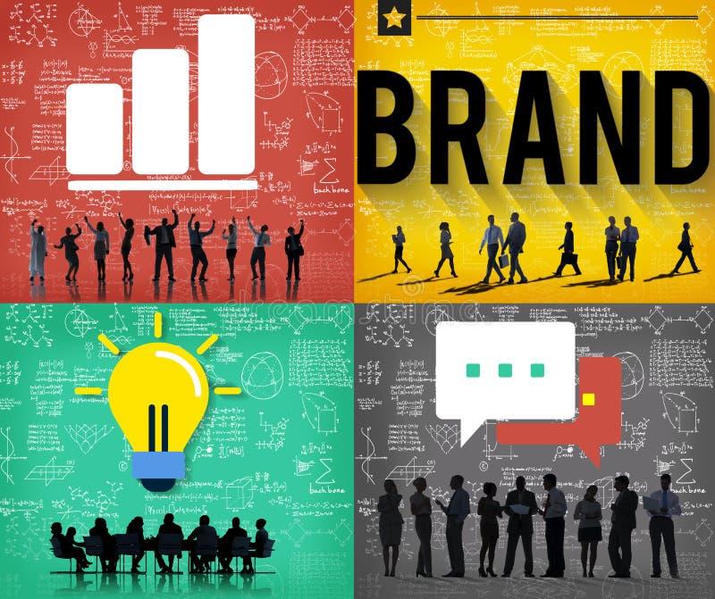 Tipo que marca o conceito do mercado da marca registrada de Copyright ilustração royalty free